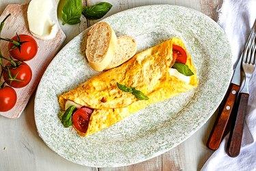 Caprese omelette