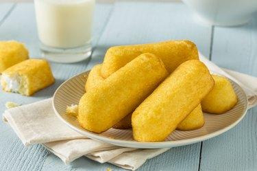 Sweet Yellow Sponge Snack Cake