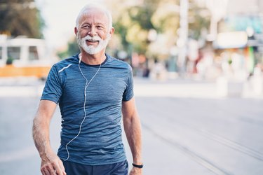 A man exercising as a natural remedy for constipation