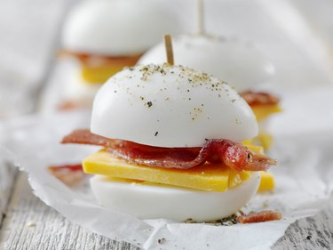 Bacon and Cheddar Hard Boiled Eggs