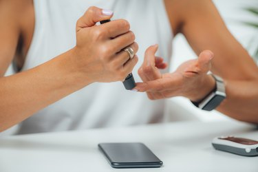 Measuring Haemoglobin A1C Blood Glucose Levels, Using Smart Phone App