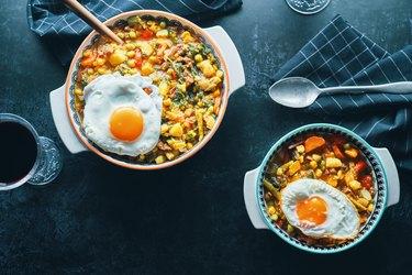 Butternut squash breakfast dish.