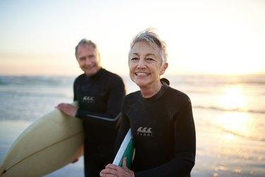 older couple surfing