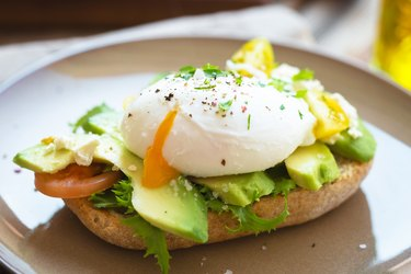 Sandwich with avocado and poached egg, as an example of food good for fibroids