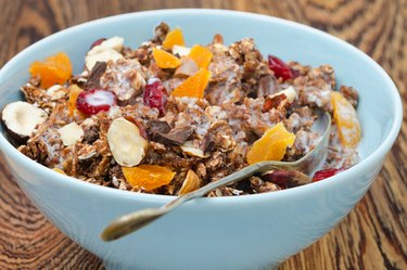 A bowl of whole-grain breakfast cereal