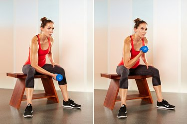 Move 3: Concentration Biceps Curl