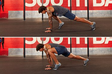 Proper form for mountain climbers.