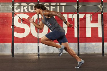Man performing CrossFit sprints.