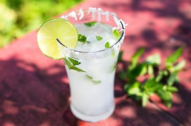 Lime in the Coconut Healthy Cocktail