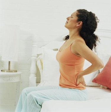Back pain from lying flat