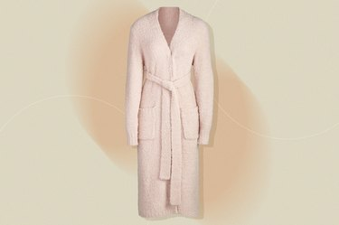 Skims Cozy Knit Robe, as a gift for people with cancer