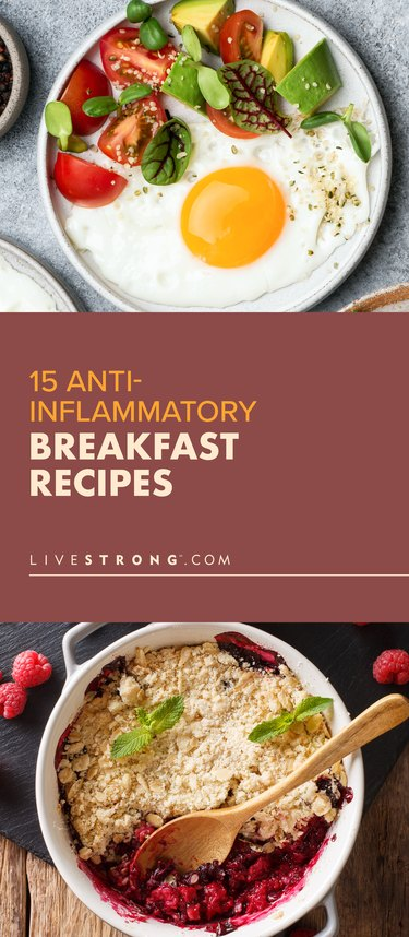 Collage of anti-inflammatory breakfast recipes.