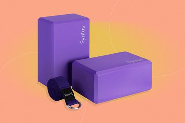 Syntus Yoga Block and Yoga Strap Set