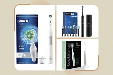collage of some of the best electric toothbrushes