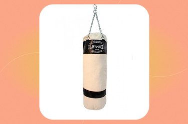 Last Punch Heavy Duty Red Canvas Punching Bag With Chains
