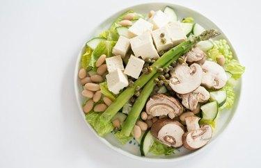 Asparagus and Tofu Dinner Salad Plant Based Dinner Recipes