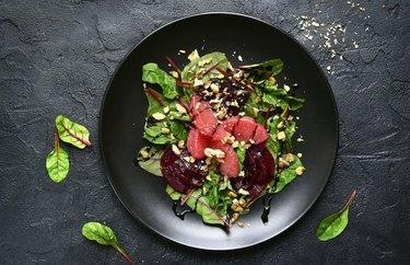 Beet-Grapefruit-Walnut Salad With Mint Dressing  Plant Based Dinner Recipes