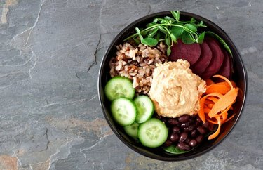 Beet and Carrot Buddha Bowl with Savory Dressing Plant Based Dinner Recipes