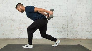 6. Lunge + Triceps Kickback