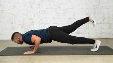 5. Push-Up + Leg Lift