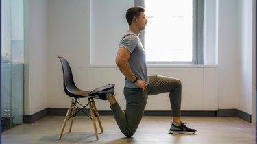 Move 3: Office Chair Hip Flexor Stretch