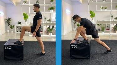 1. Ankle Deficit Bench Stretch