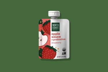 Sachets of probiotic strawberries
