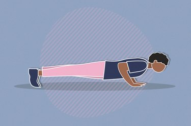 Illustration of a person doing push-ups every day