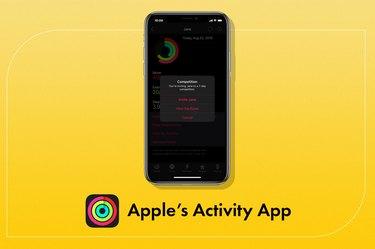 apple activity app on yellow background