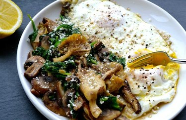 Wild Mushroom and Baby Spinach Egg Skillet Recipe