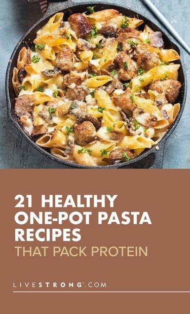 custom pin showing one-pot pasta recipe