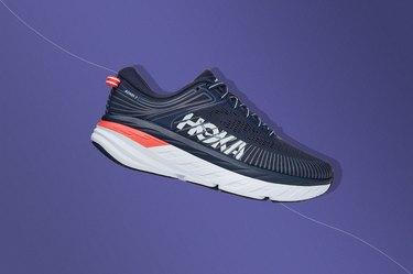 The HOKA Bondi 7, best shoe for plantar fasciitis