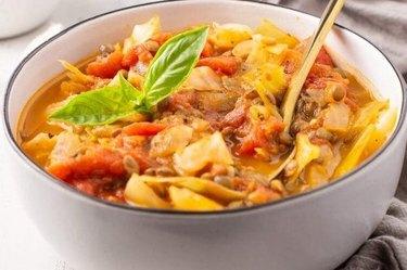 Cabbage Lentil Soup