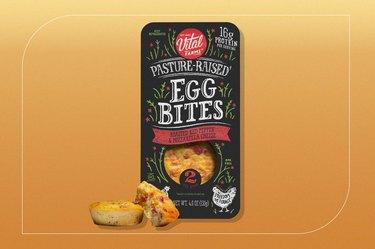 Vital Farms Pasture-Raised Egg Bites, Roasted Red Pepper & Mozzarella Cheese