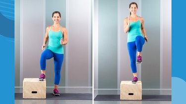 Move 6: Lateral Step-Up With Knee Drive