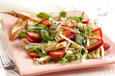 Strawberry Chicken Salad With Hoisin-Sesame Dressing