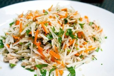 Daikon, Salmon and Quinoa Grain Salad
