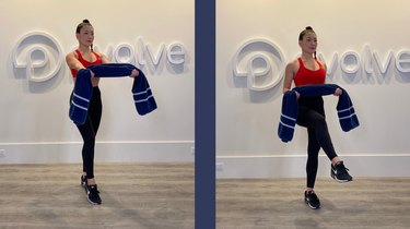 Move 4: Standing Knee Drive With Supinated Row