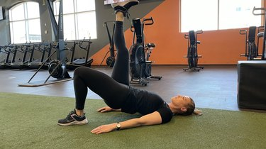 Move 3: Single-Leg Glute Bridge (Leg Straight)