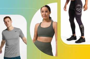 collage of the best weightlifting clothes