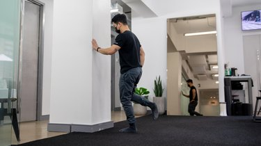 Move 2: Single-Leg Balance With Wall Support