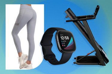 workout leggings, fitness tracker and folding treadmill as some of the best Amazon Prime Day fitness deals