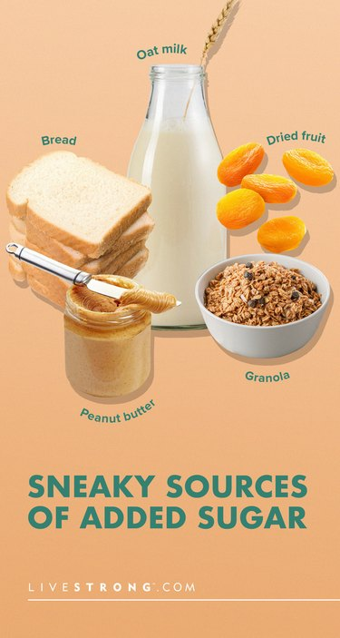 pin showing sneaky sources of added sugar