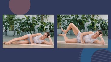 caucasian woman doing two best side-butt Pilates moves