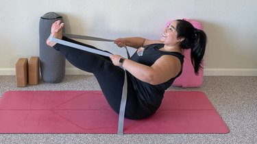Move 7: Boat Pose With Straps
