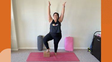 Move 5: Tree Pose With Block