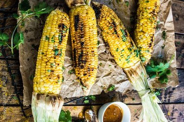 Sweet Curry Corn With Mango Chutney Butter