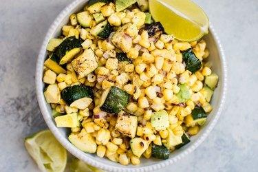 Grilled Corn and Zucchini Salad