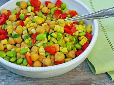 Chickpea, Corn and Red Pepper Salad With Honey-Lime Vinaigrette