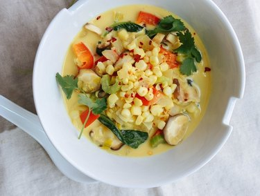 Spicy Thai Curry Corn Soup